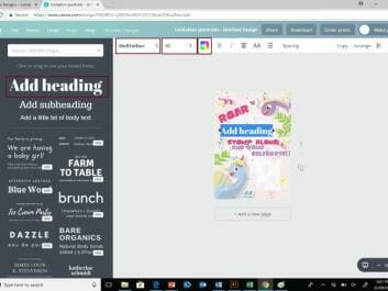 Canva invitations