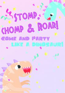 Free Printable Dinosaur Birthday Invitations 2