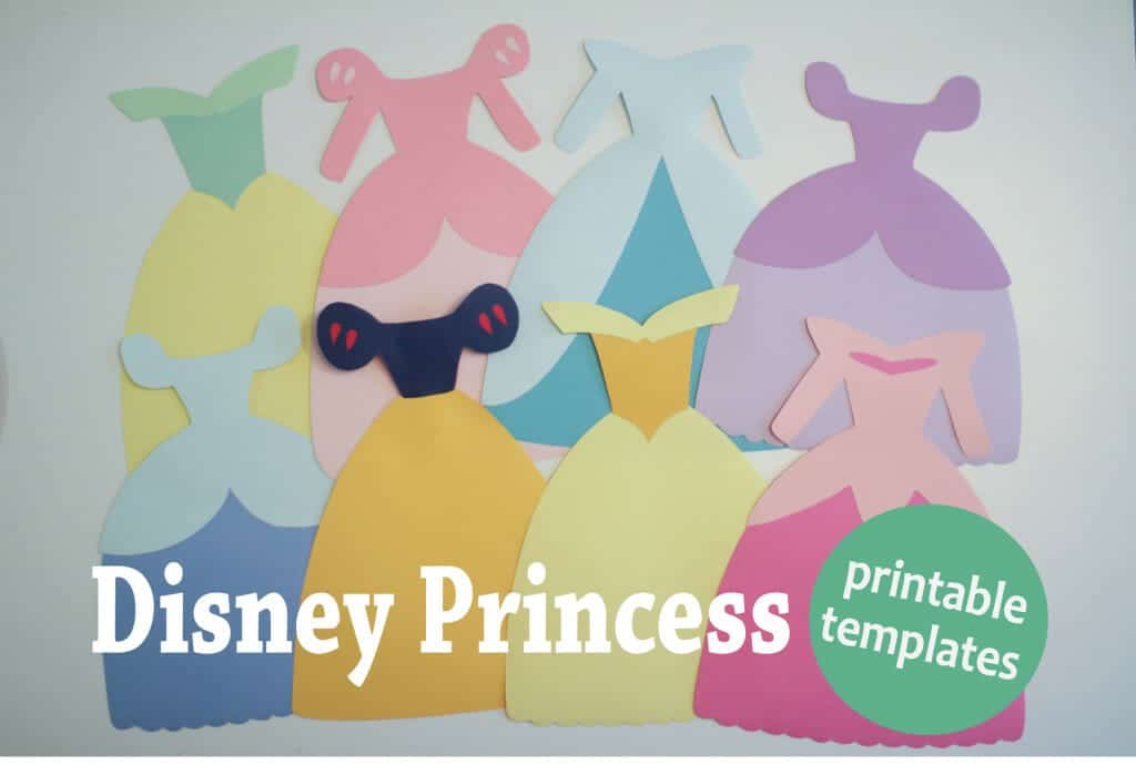 Disney Princess Dress Templates