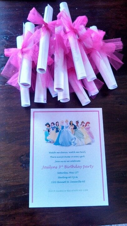 Disney Princess Party Invitations