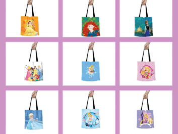 Dinsey Princess Tote Bags