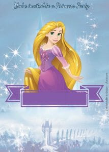 Disney Princesses Party Invitations