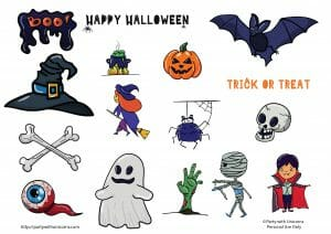 halloween clip art free party with unicorns