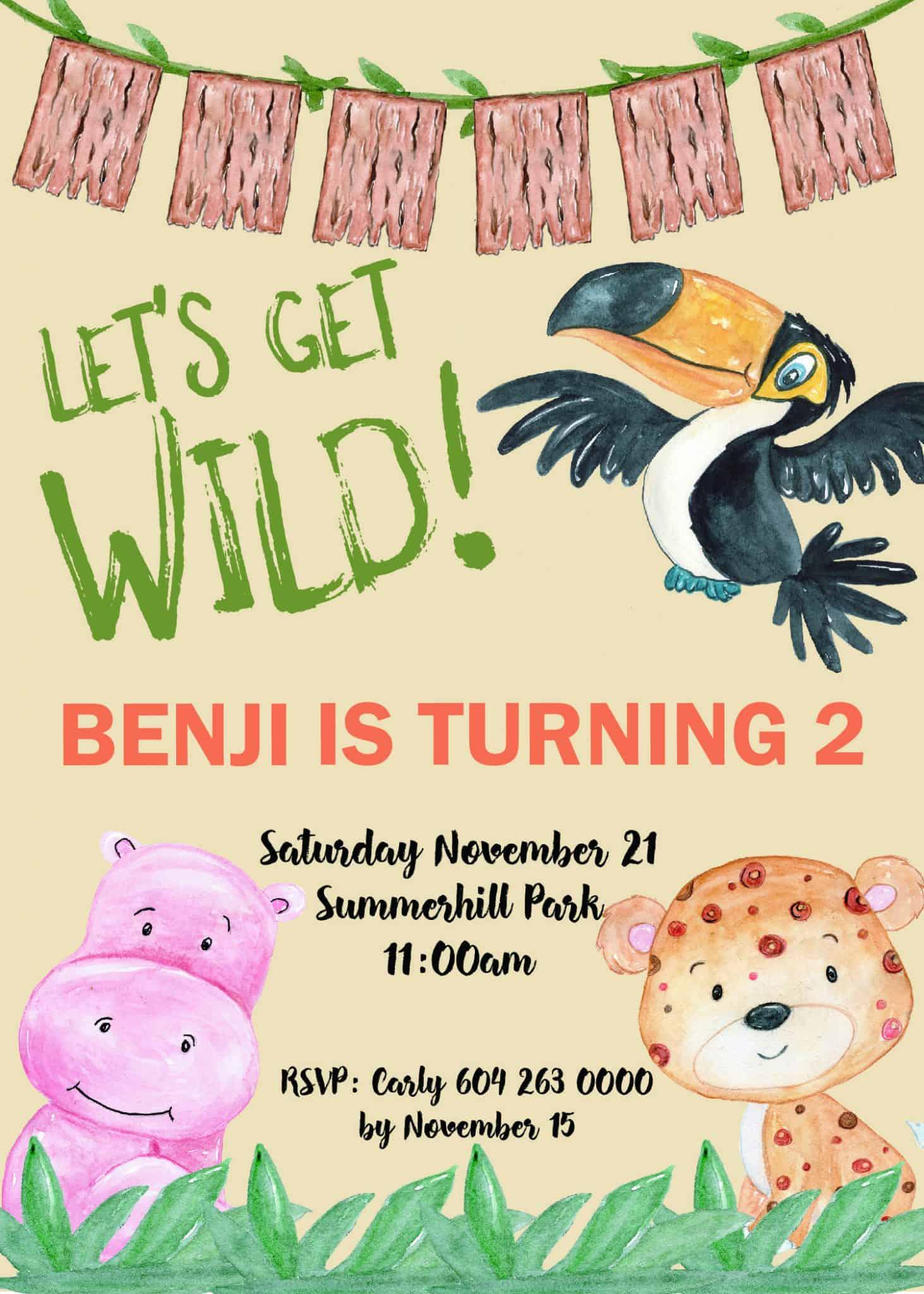 Jungle Party Invitation