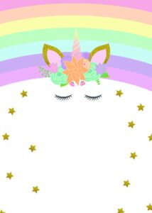 Unicorn Birthday Invitations - Free Printable * Party with
