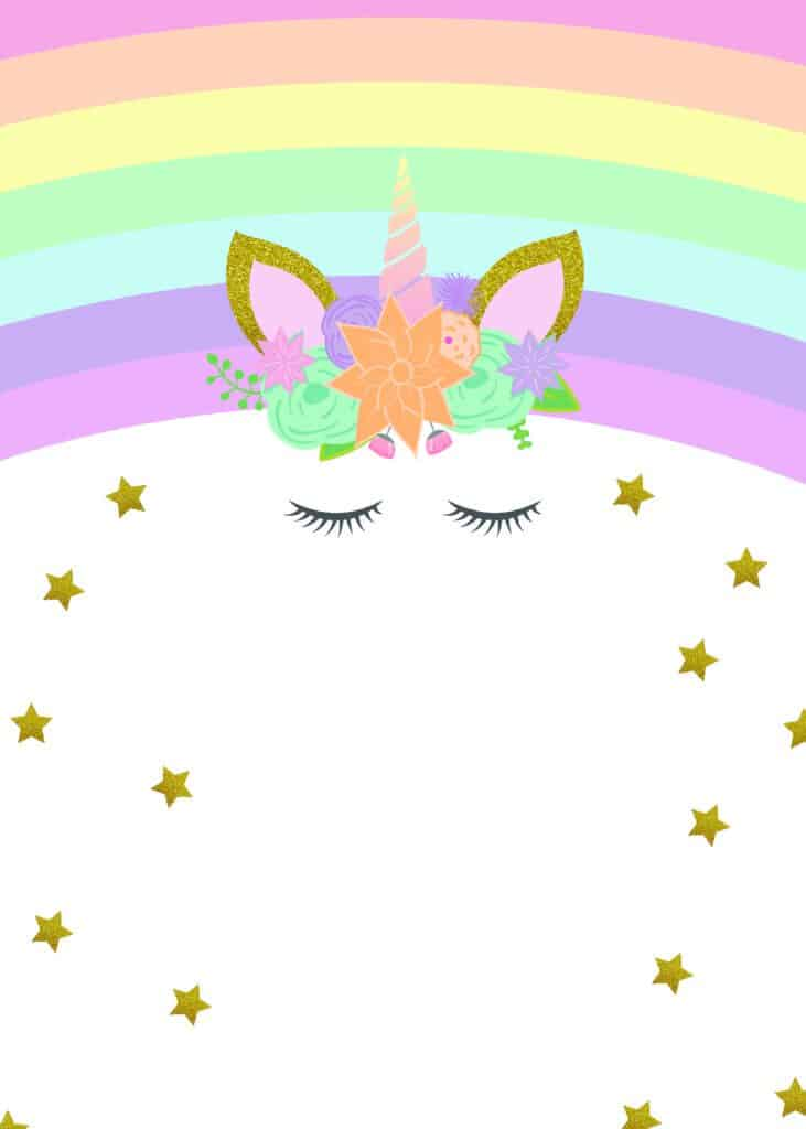 unicorn party invitations to print