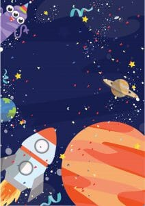 Space Party Invitation 4