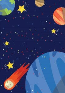 Outer Space Birthday Party Free Invitations Party With