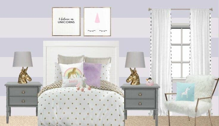 Unicorn bedroom ideas party with unicorns for Unicorn bedroom theme