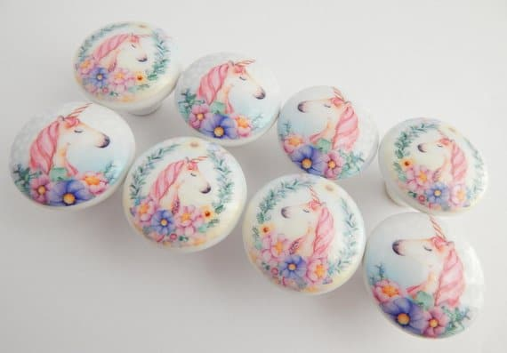 Custom Unicorn Dresser Knobs