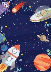 Space Party Invitation 1