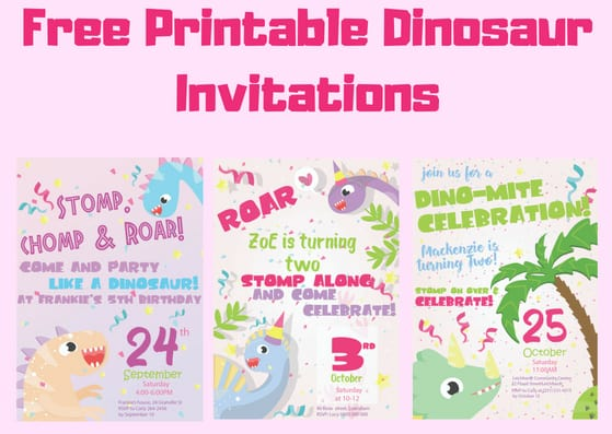 Free Dinosaur Invitations