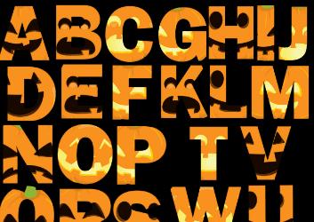 Printable Hallloween Letters