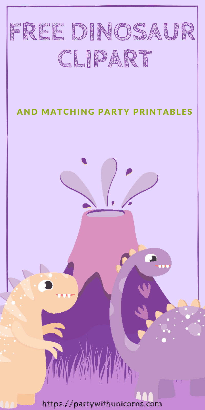 Dinosaur Clip Art Free Download Party With Unicorns
