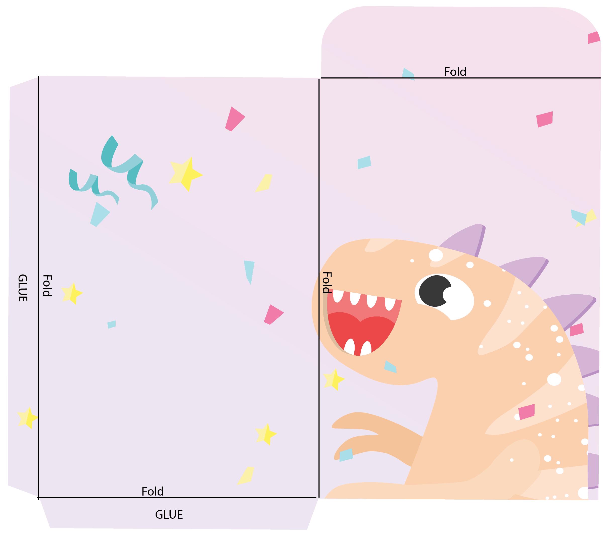 Dinosaur Envelope Instructions