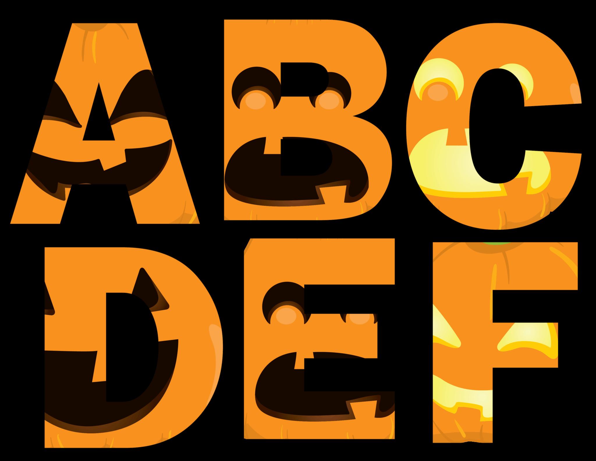 photograph about Printable Jackolantern identify Halloween Letters Printable - Jack o Lantern Faces