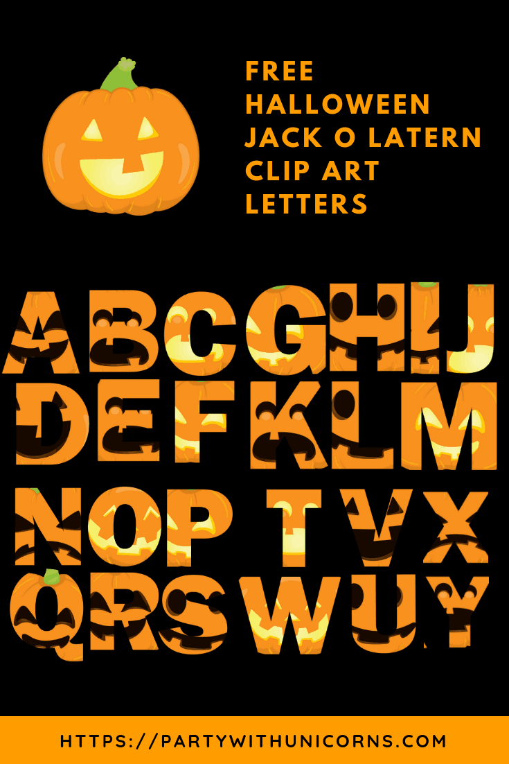 image regarding Printable Jack O Lanterns named Halloween Letters Printable - Jack o Lantern Faces