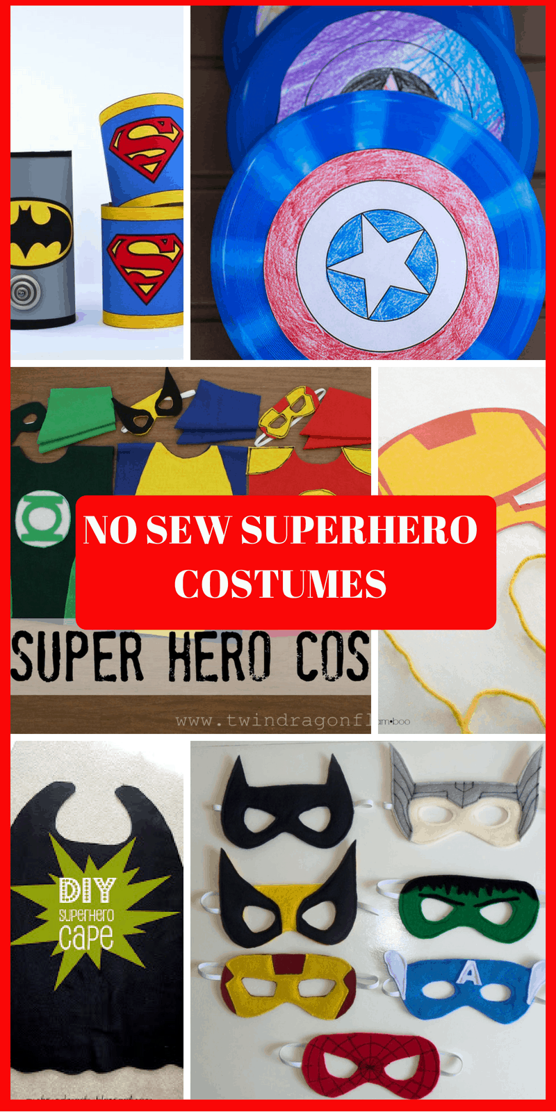 no sew superhero cape pattern