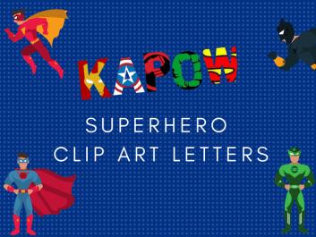 Superhero Clip Art Letters