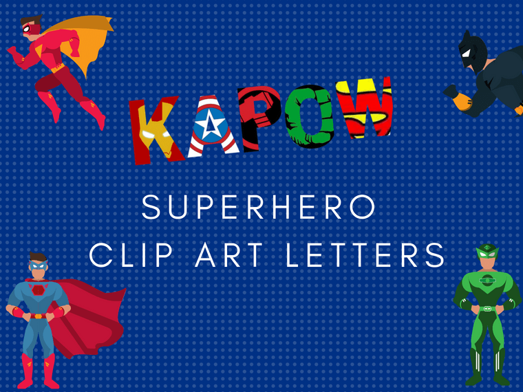 Superhero Letters Printable