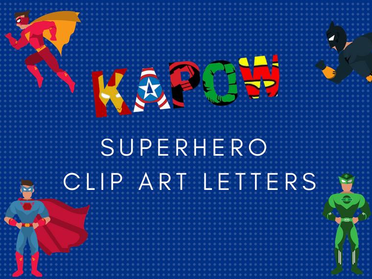 Superhero Letters Printable