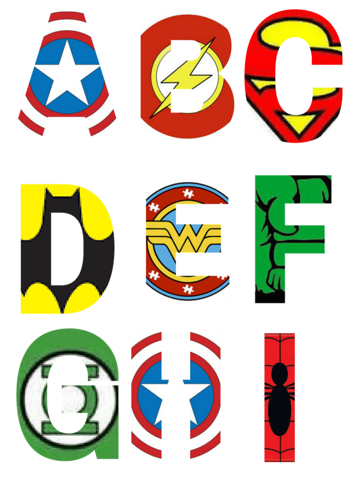 photo about Free Printable Clip Art Letters called Absolutely free Printable Superhero Alphabet Letters