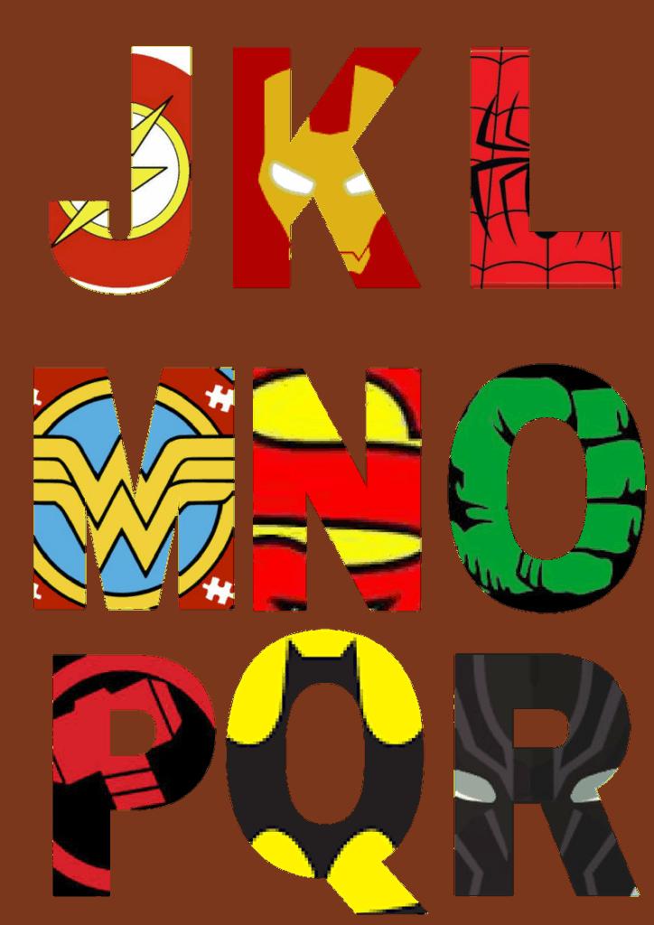 Uppercase Superhero Letters J-R