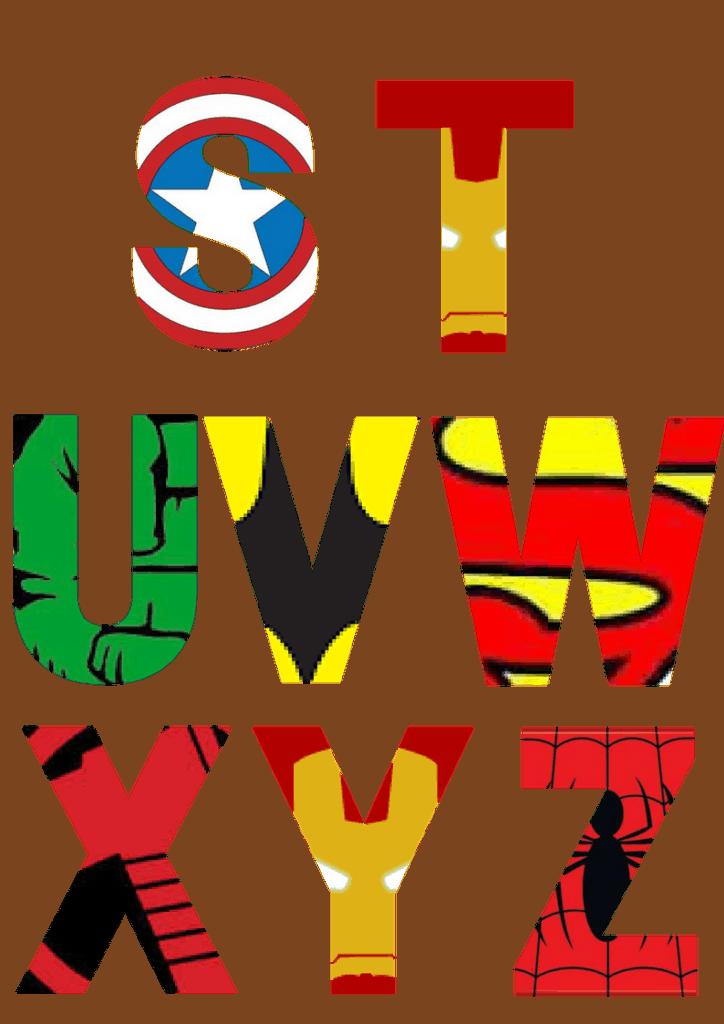 Uppercase Superhero Letters S-Z
