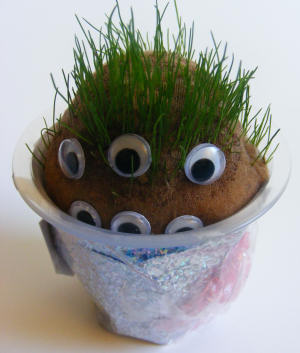 Grass Head Monster