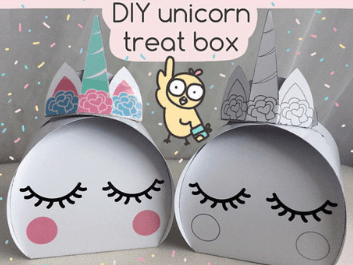 Unicorn Party Favor Boxes