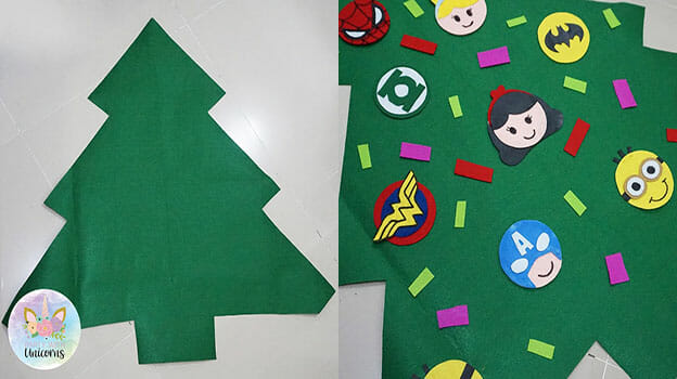 Felt Christmas Tree Pattern.Diy Kids Felt Christmas Tree