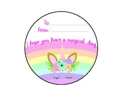 Unicorn Valentines Card