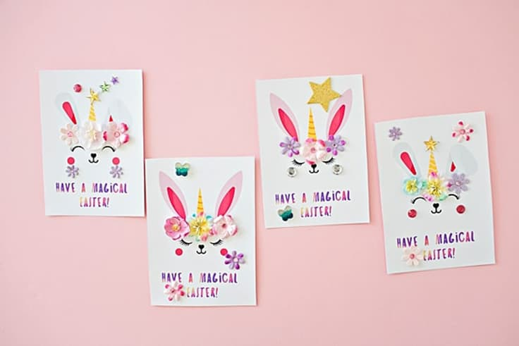 Bunny Unicorn Easter Card