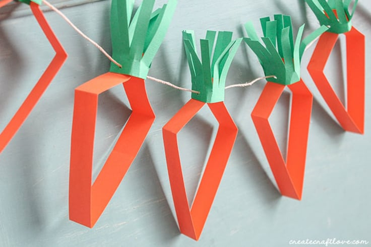 Easter Paper Carrot Garland