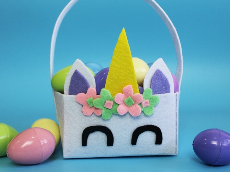 Unicorn Easter Basket Craft
