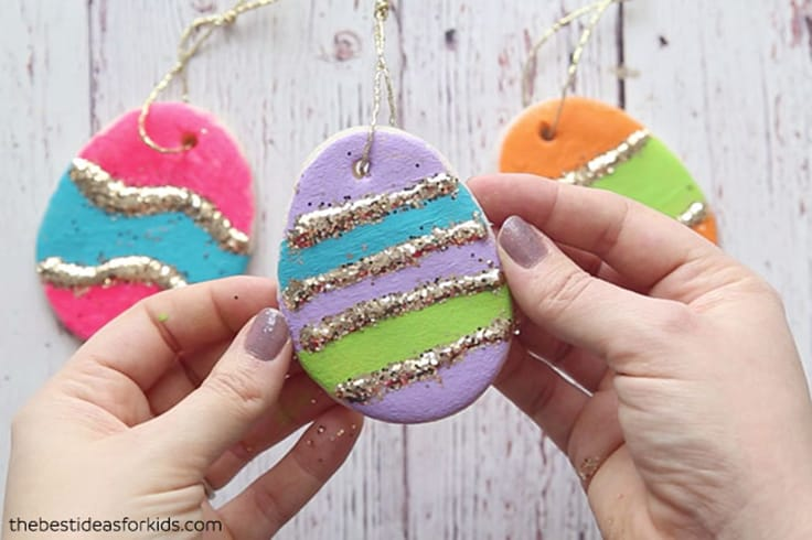 Salt Dough Easter Eggs Ornament