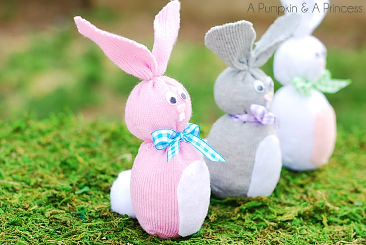 Sock Bunny Easter Craft
