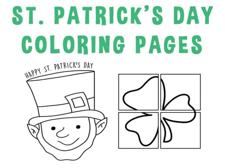 st patrick day coloring pages