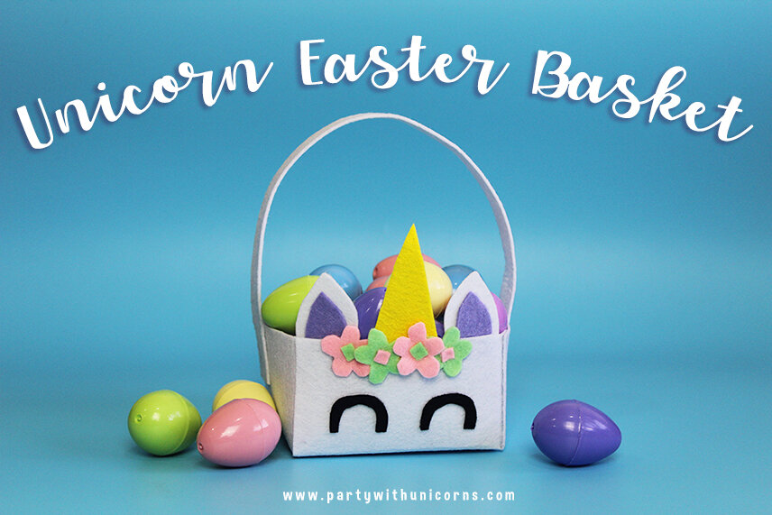 Unicorn Easter Basket Cover