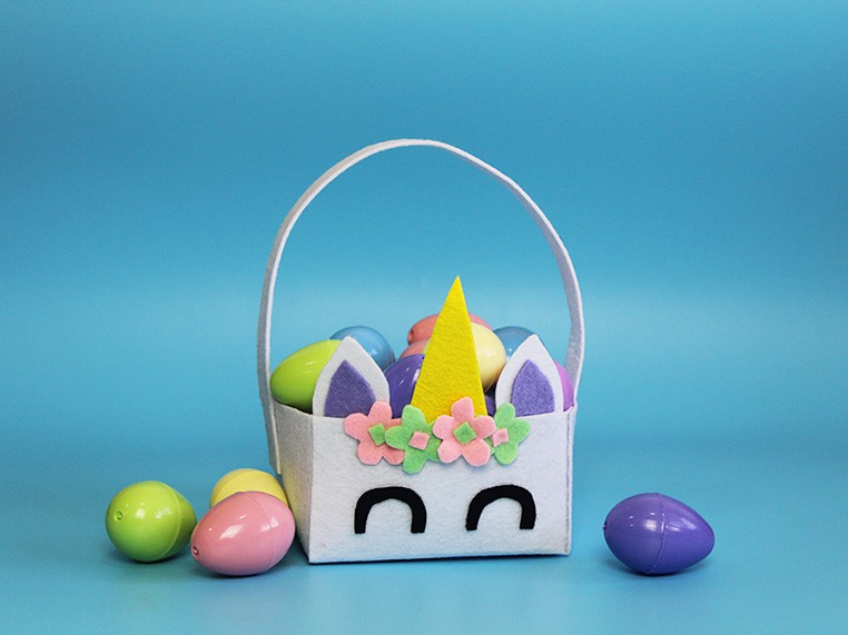 Unicorn Easter Basket Feature Image