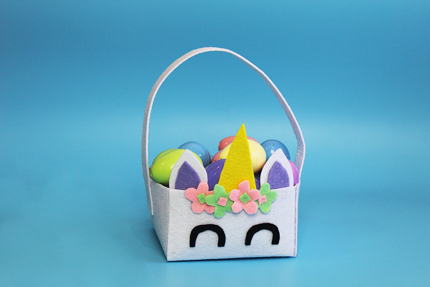 Unicorn Easter Basket Final Product
