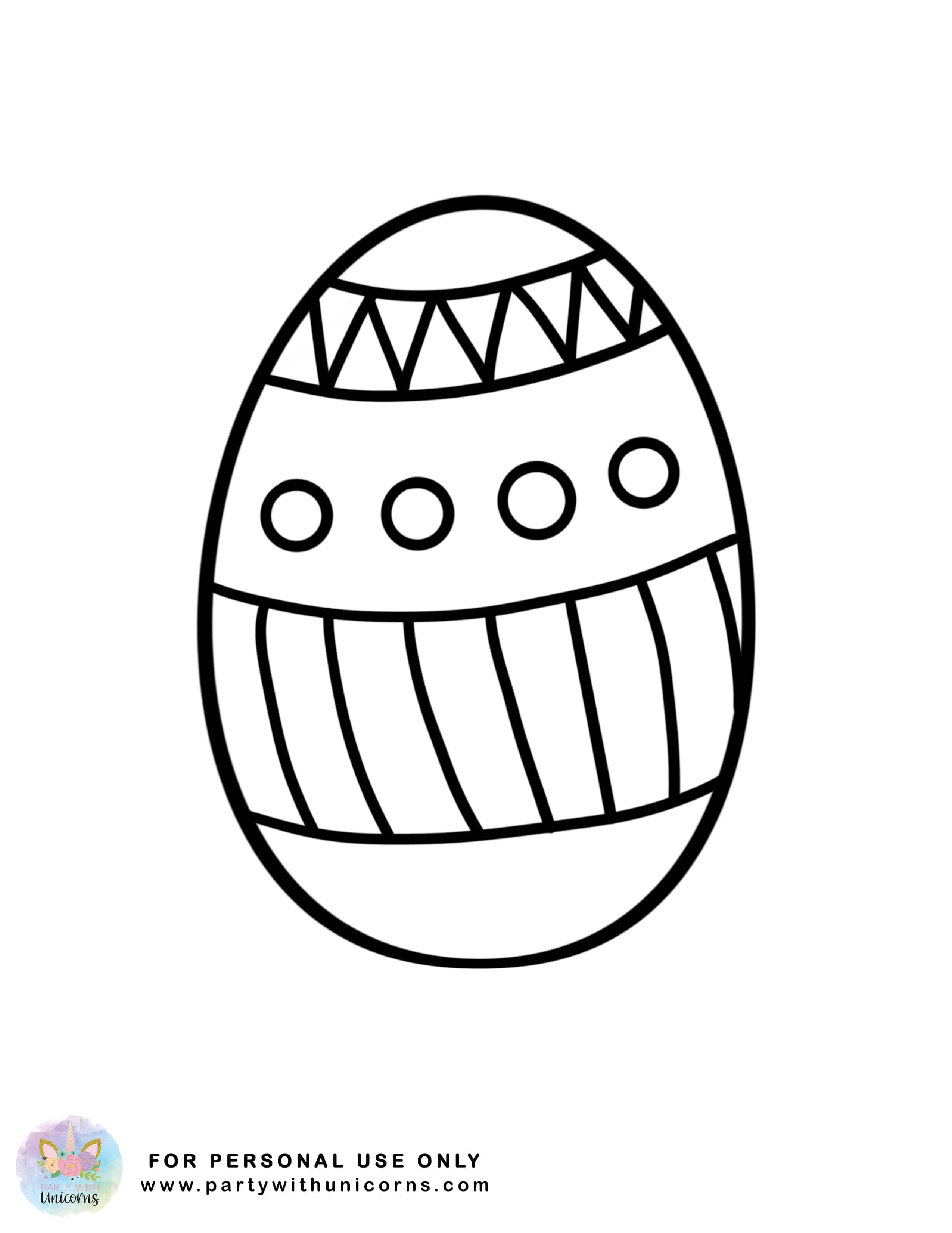 Easter Coloring Sheets | Free Download | Party with Unicorns
