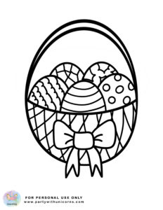 easter coloring sheet - Basket