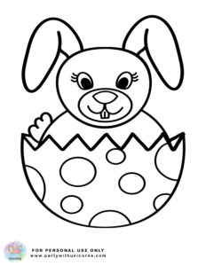 easter coloring sheet - Easter bunny and Egg