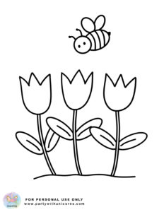 Spring Coloring pages bee