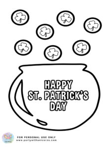 st patrick day coloring page 1