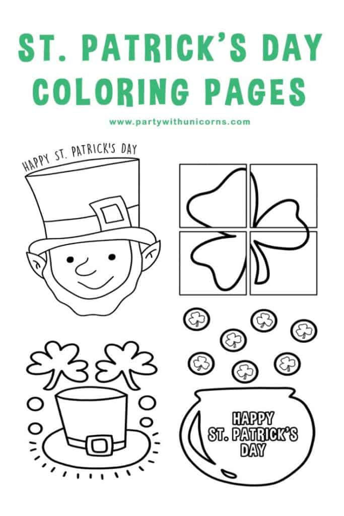 st patrick day coloring page cover image