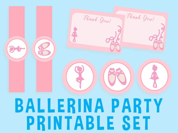 Free Ballet Party Printables Free download