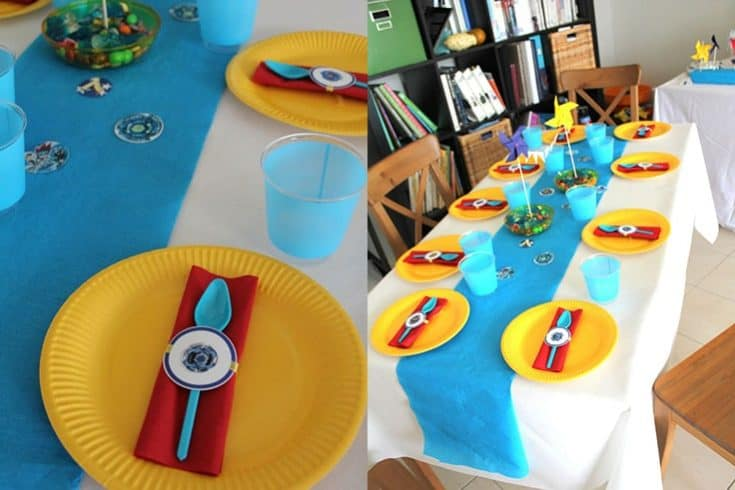 Beyblade Birthday Table Set-up