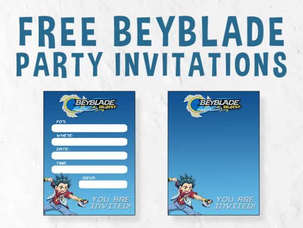 Beyblade Invitation Featured Image